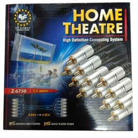 Cable Audio-Video 6 conectores RCA