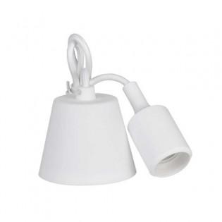 Colgante Silicona Blanco E27