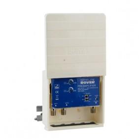 Amplificador Mastil 2 Ent. UHF 40dB Lte