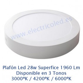 Downlight LED Superficie 28w