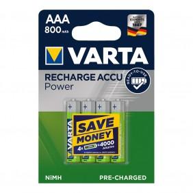 Pack 4 Pilas AAA 800 mAh Varta