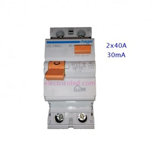 Int. Diferencial 2P 40A 30mA
