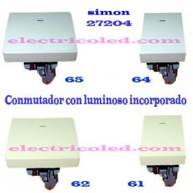 Conmutador Con Visor Luminoso SIMON 27204