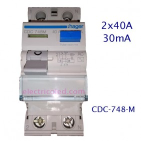 I. Diferencial 2P 40A/30mA (Hager)