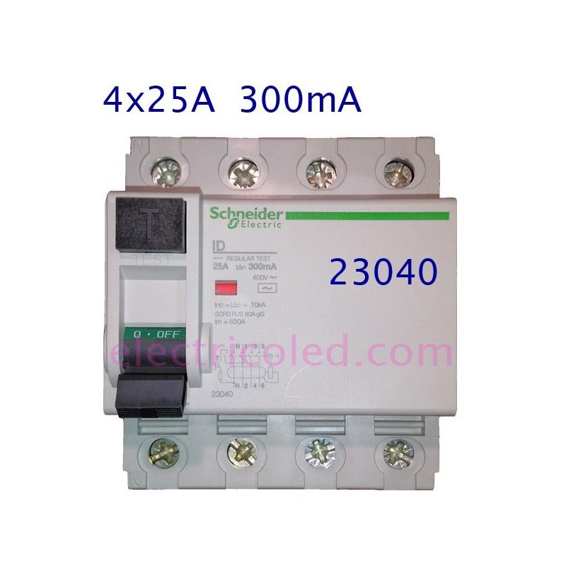 I. Diferencial 4P 25A/300mA (Schneider)
