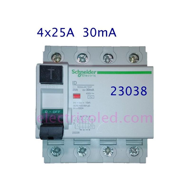 interruptor-diferencial-4p-25A-30mA-schneider-23038-electricoled (Schneider)
