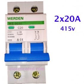 Int. Magnetotérmico 2P 20A (Werden)
