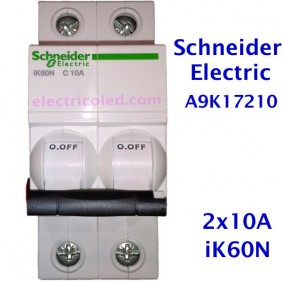 interruptor-automatico-magnetotermico- 2P-schneider-a9k17210-a9k17216-a9k17220-a9k17225