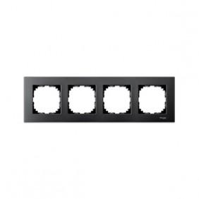 Marcos Aluminio/Antracita 4 elementos