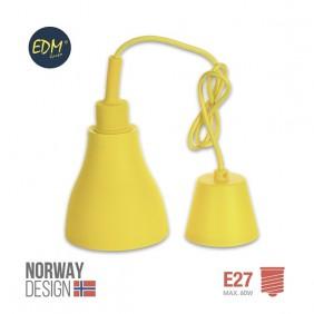 Lámpara de bombilla colgante E27 amarillo