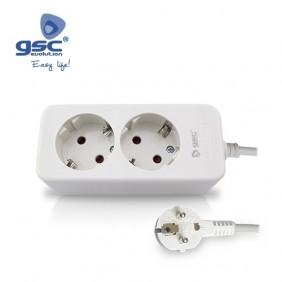 Base 2 Schuko + Cable 1.5mts MEGA