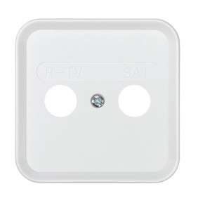 Placa toma TV-SAT Blanco Nieve