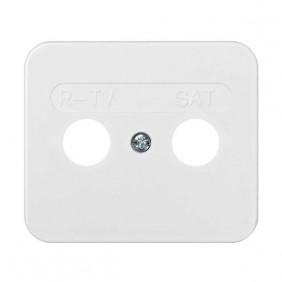 Placa Toma R-TV+SAT Blanco