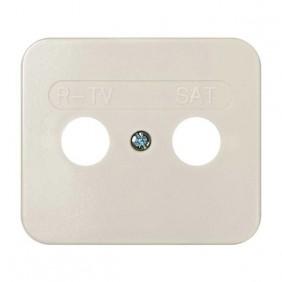 Placa Toma R-TV+SAT Marfil