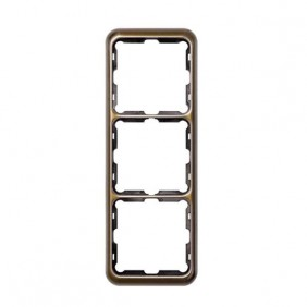 simon 75630-36 marco 3 elementos bronce