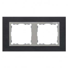 marco-2-elementos-simon-82-nature-metal-inox-negro-aluminio-82927-38-electricoled