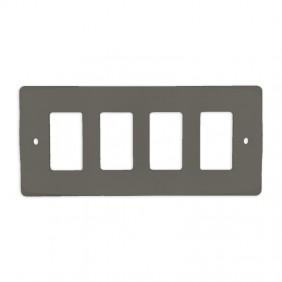 Placa eunea de 4 Módulos estrechos 3094N-G Gris