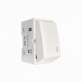 Interruptor unipolar eunea EUROPOLI 3000N-B Blanco