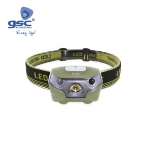 Linterna Cabeza Recargable con Sensor 3 posiciones Led CREE