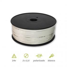 Paralelo Polarizado Blanco 2x2.5mm²