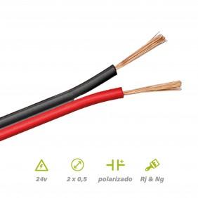 Paralelo Rojo Negro 2x0,5mm² POR METROS