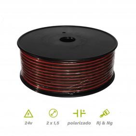 Paralelo Rojo-Negro 2x1.5 CARRETE DE 100MTS