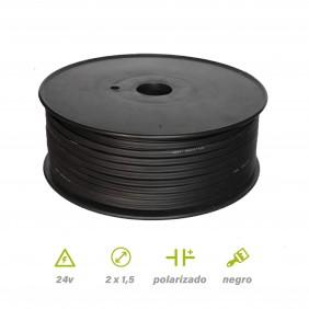 Carrete 100mts paralelo Negro 2x1.5 mm²