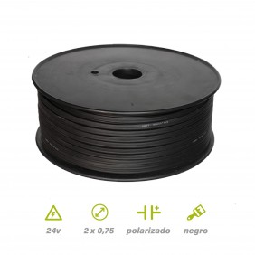 Paralelo Negro carrete de 100 mts 2x0.75 mm²