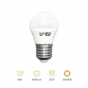 Bombilla LED E27 6w 3000K
