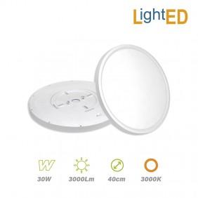 Plafón Superficie LED 30w 3000lm Luz Cálida Ø 40cm