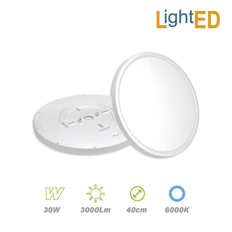 Plafón Superficie LED 30w 3000lm 40cm Luz Fría