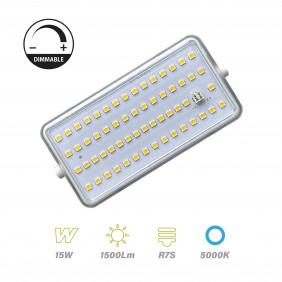 Bombilla Lineal LED R7S 118mm 15w 5000ºK Regulable